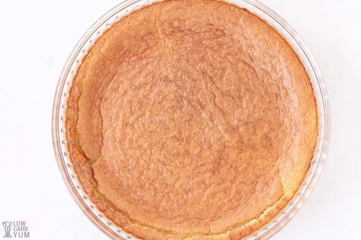 baked no crust coconut pie