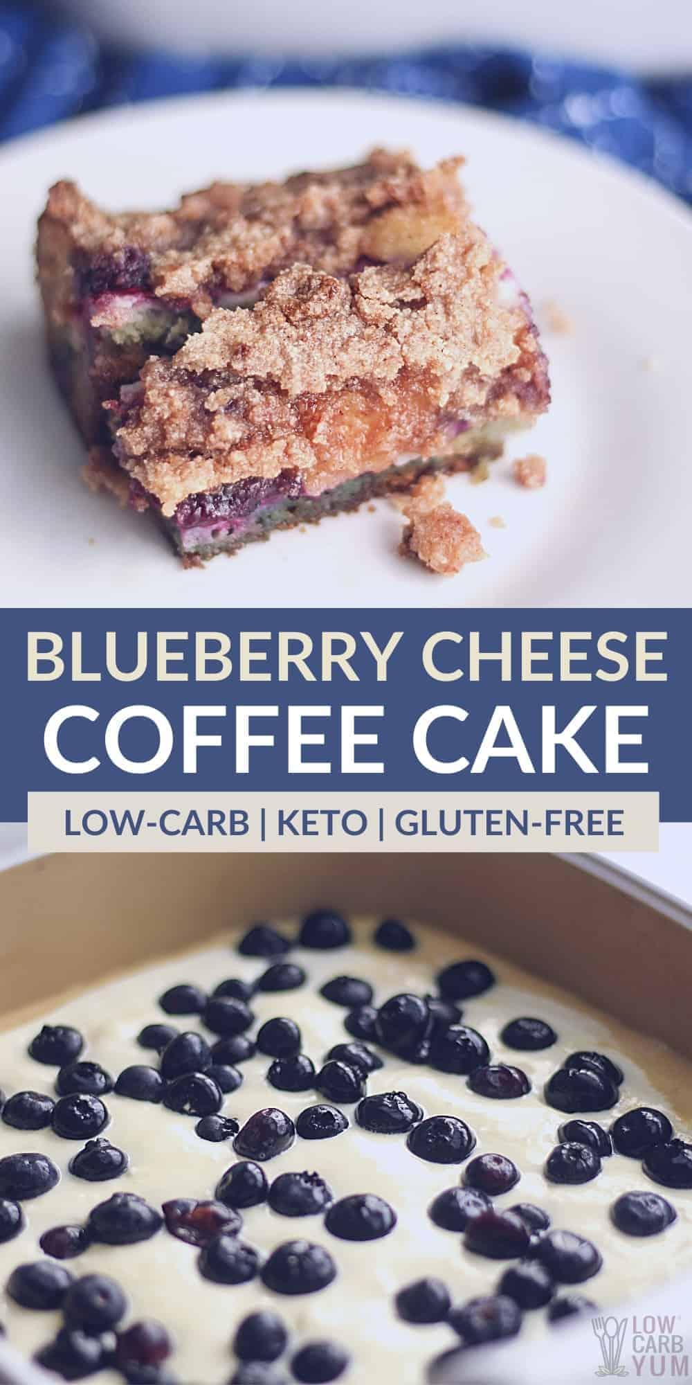 keto blueberry cheese coffee cake