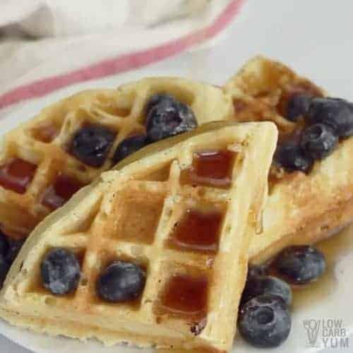 low carb almond flour waffles