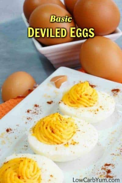 Low carb basic deviled eggs