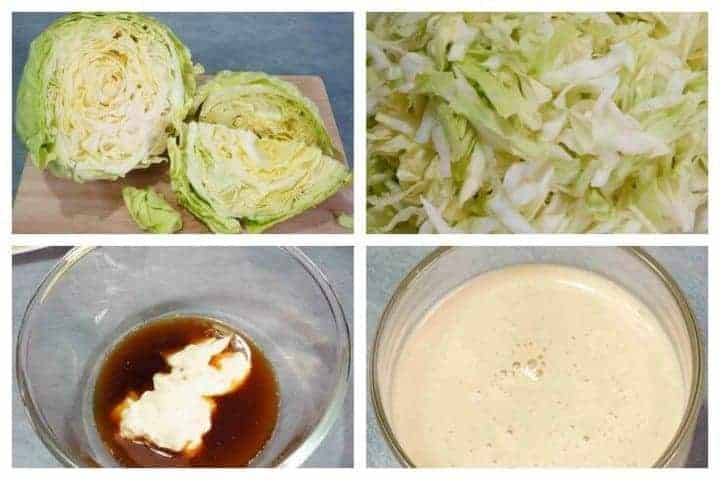 Low carb coleslaw recipe prep 1