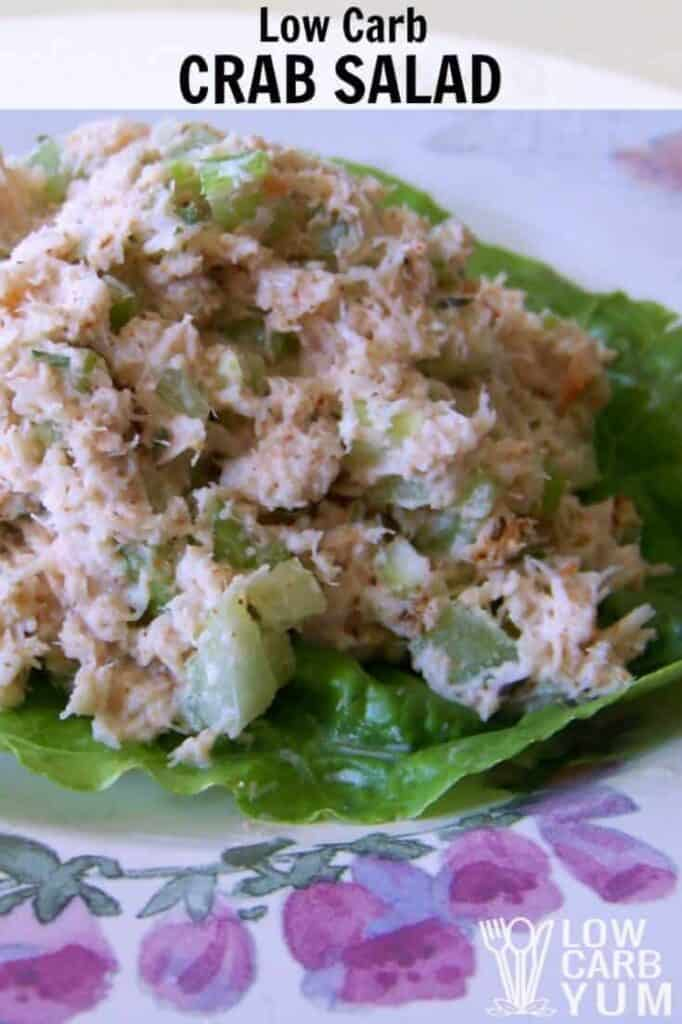 Low carb crab salad cover