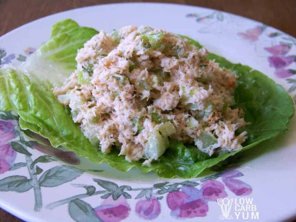 Low carb crab salad featured