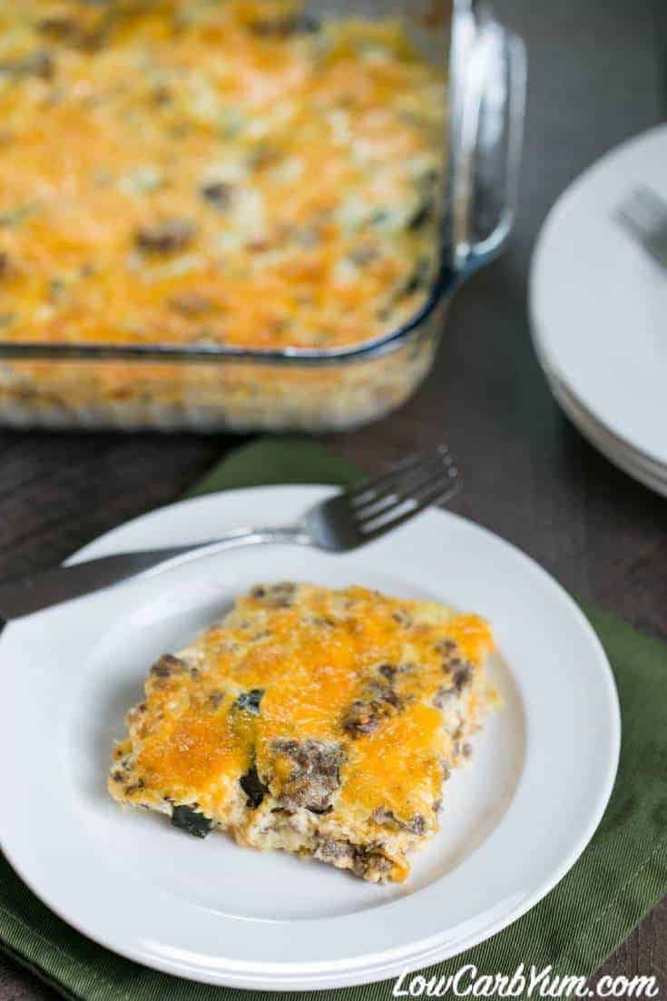 low carb gluten free squash casserole with cheese recipe