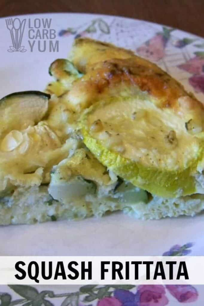 Low carb frittata with zucchini summer squash cover