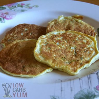 Carbquik low carb zucchini pancakes on plate