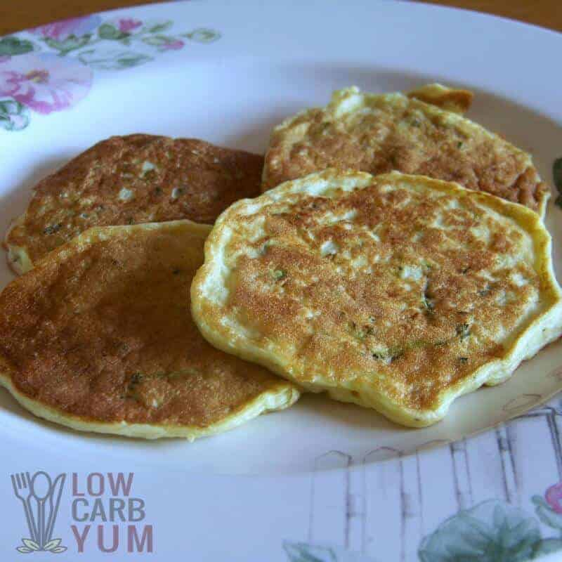 Low Carb Zucchini Pancakes – Gluten Free Option
