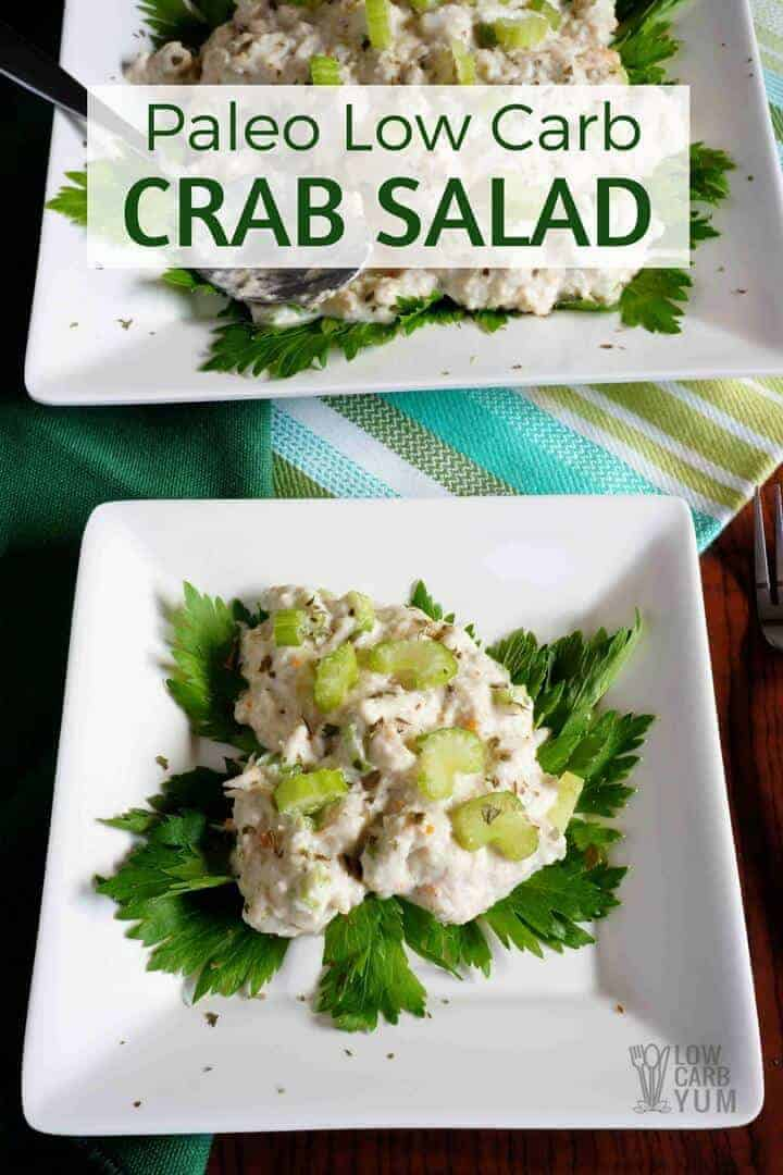 Paleo low carb crab salad recipe