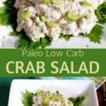 Paleo low carb crab salad