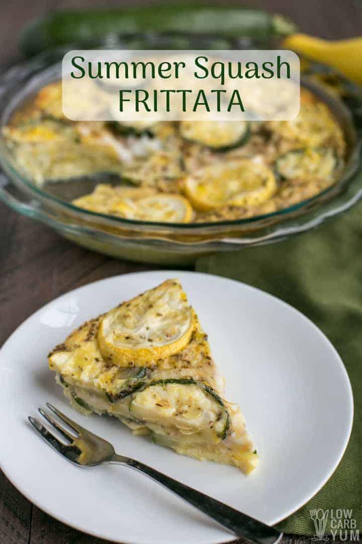 Low carb yellow summer squash frittata recipe