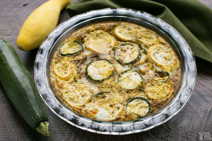An easy low carb yellow summer squash frittata