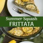 Yellow summer squash frittata recipe