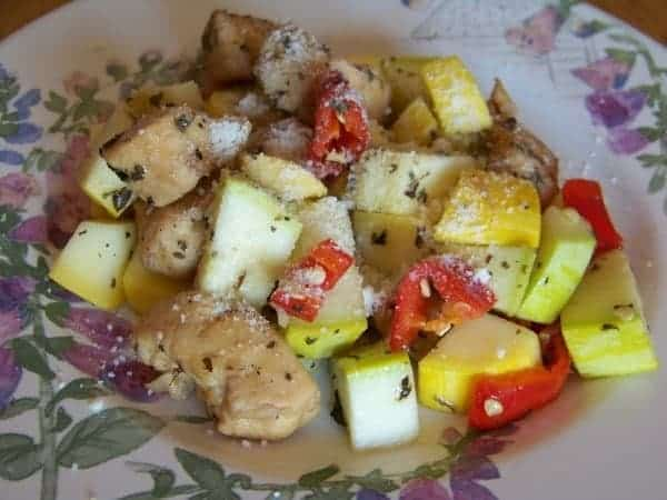 skillet chicken with summer squash
