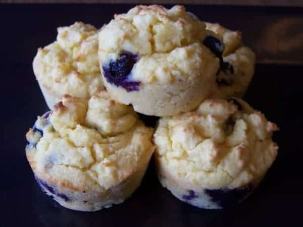 Low Carb Blueberry Muffins (Gluten-free)