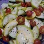 Summer Squash Zucchini Tomato Salad