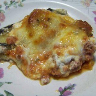 Eggplant Sausage & Cheese Casserole