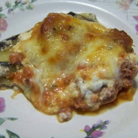 Eggplant, Sausage and Cheese Casserole