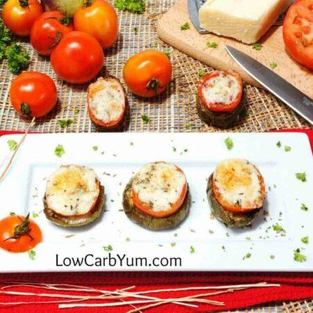Eggplant Tomato Appetizer Rounds