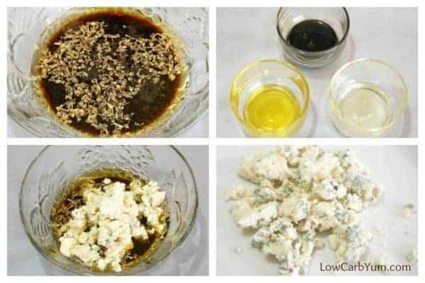Low carb blue cheese vinaigrette dressing