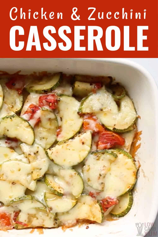 chicken and zucchini casserole bake recipe cover image