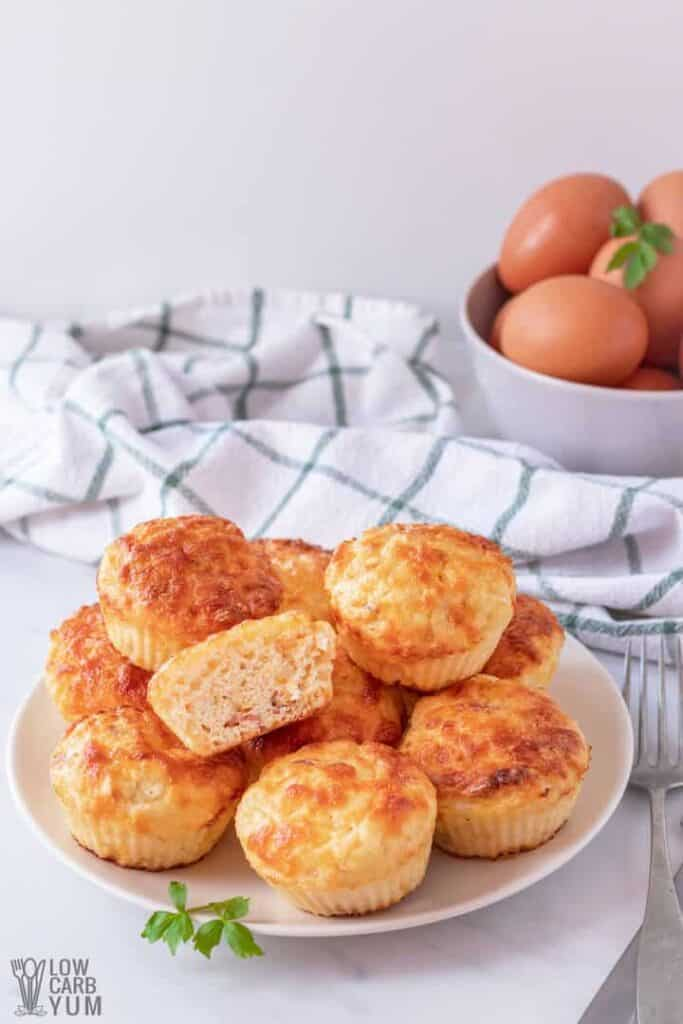 cottage cheese low carb keto breakfast muffins