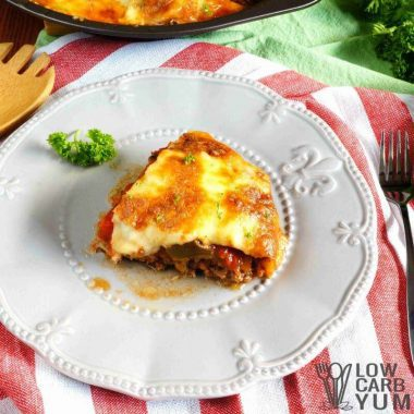 Hamburger Pie Casserole with Eggplant – Gluten Free