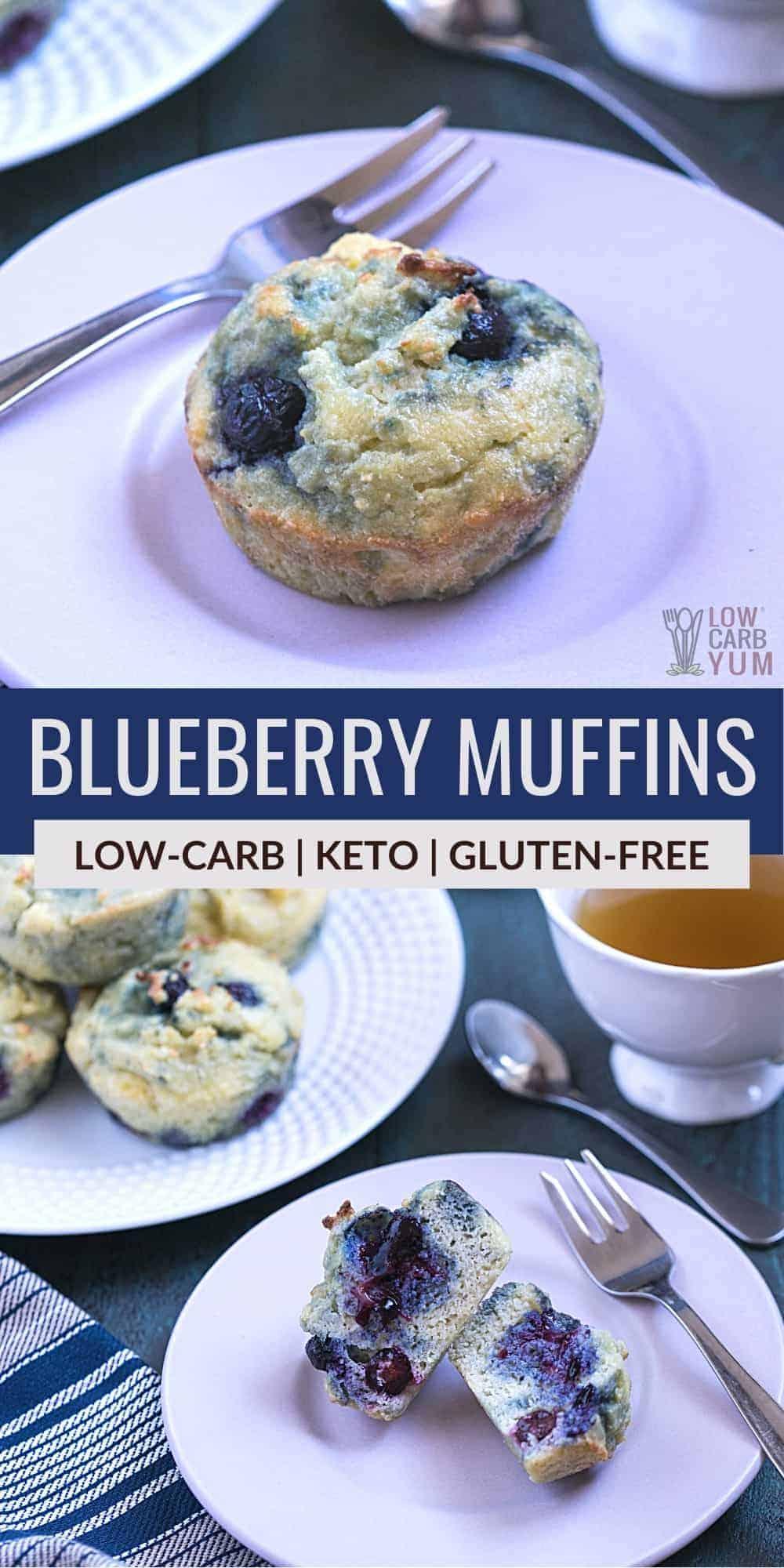 keto blueberry muffins pinterest image
