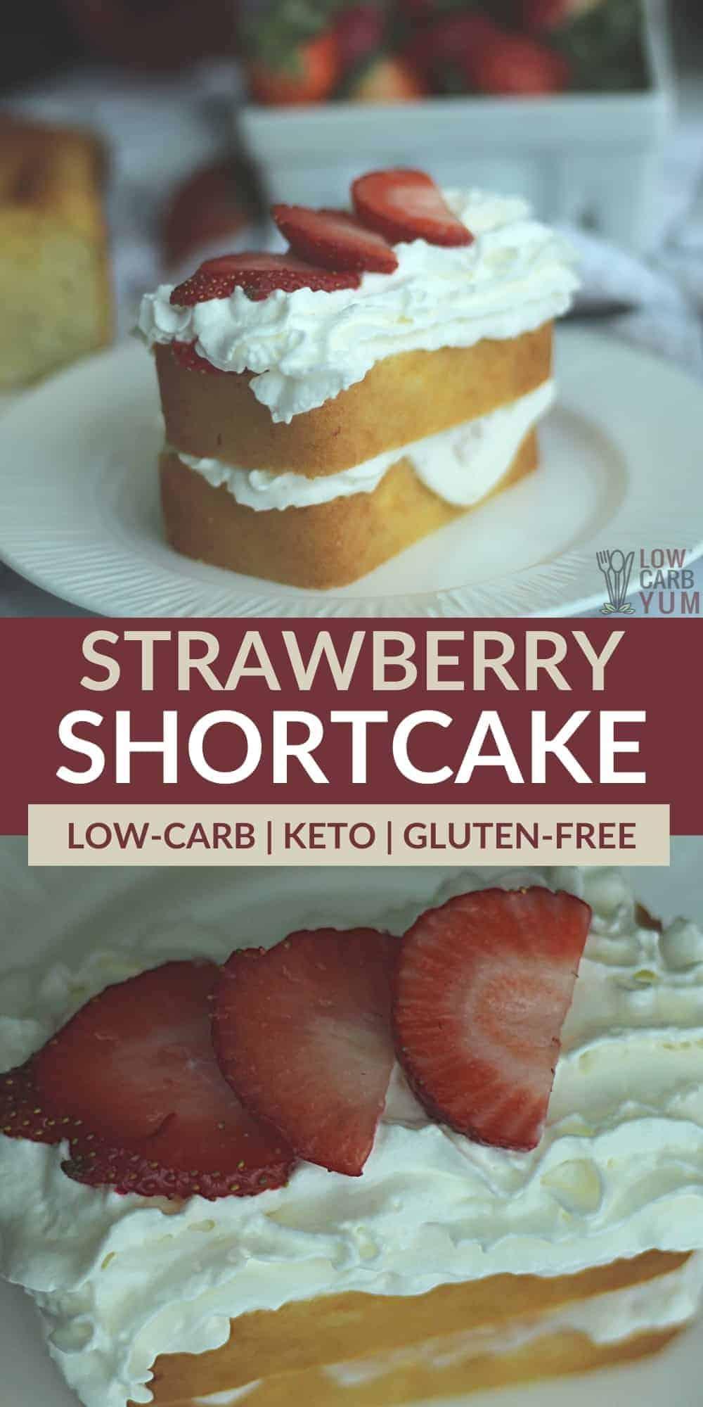 keto strawberry shortcake pinterest image