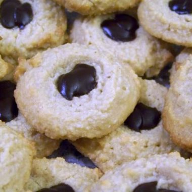 Low Carb Almond Flour Gluten Free Thumbprint Cookies