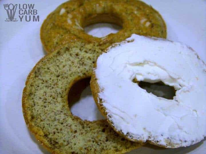 Low carb bagel recipe sliced
