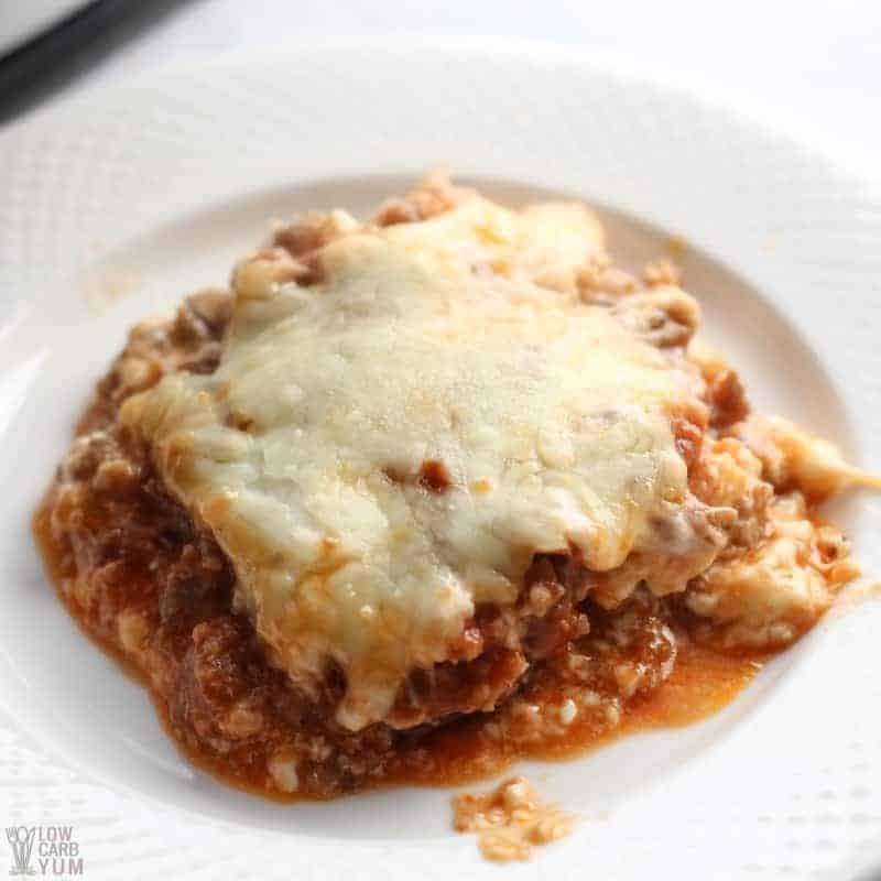 Low Carb Eggplant Parm Lasagna Casserole