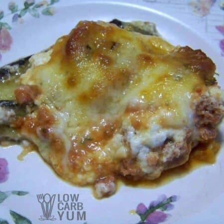 Low carb eggplant parm lasagna featured