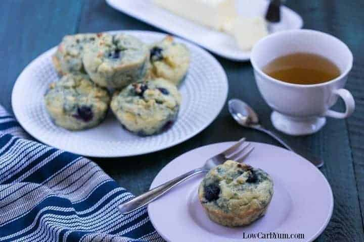 low carb gluten free blueberry muffins
