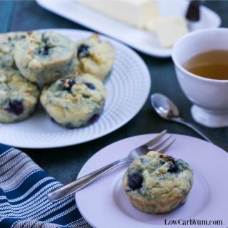 Low Carb Blueberry Muffins – Gluten Free