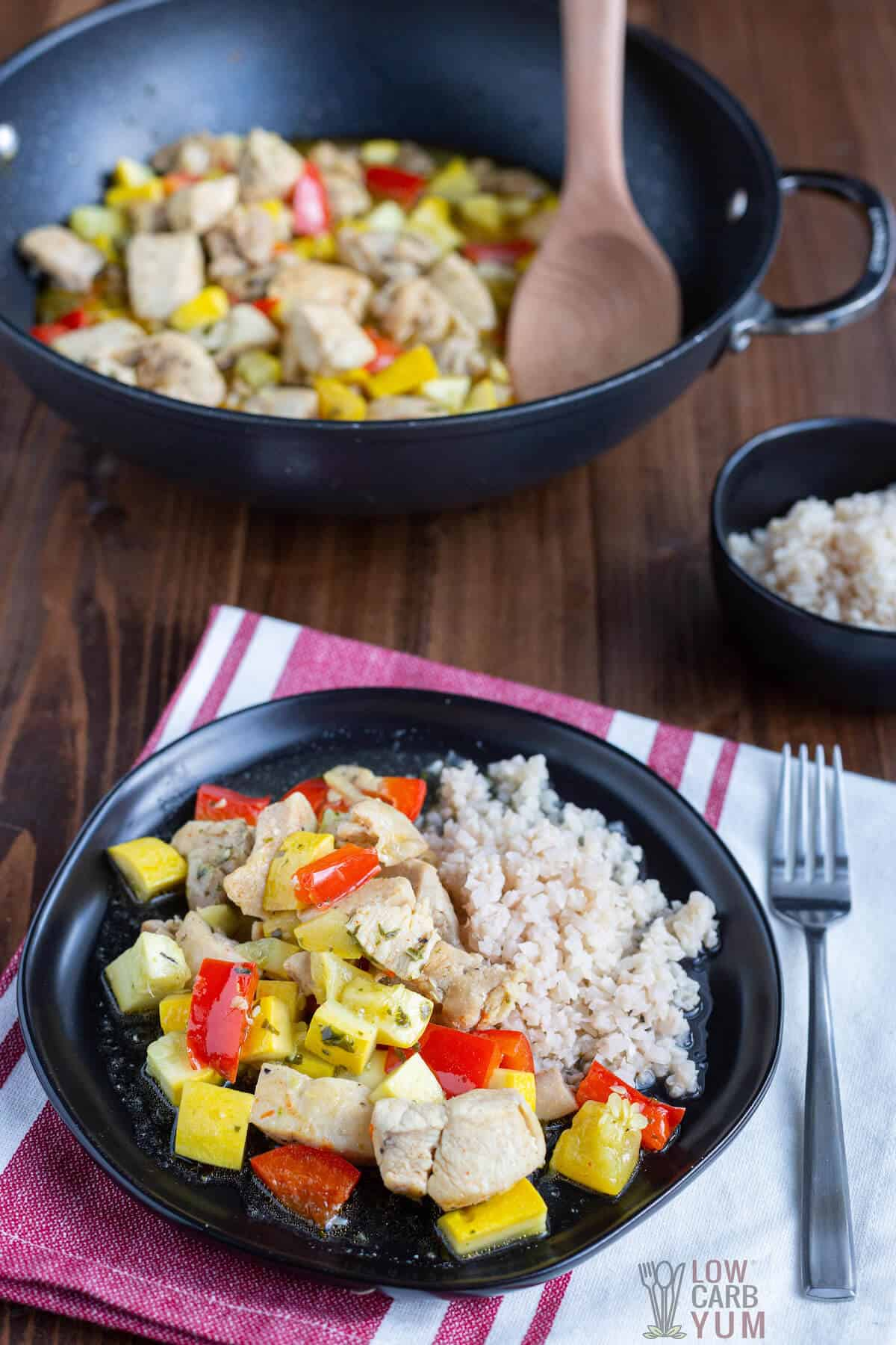 Low carb chicken stir fry without soy sauce