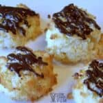 Sugar free low carb coconut macaroons featured