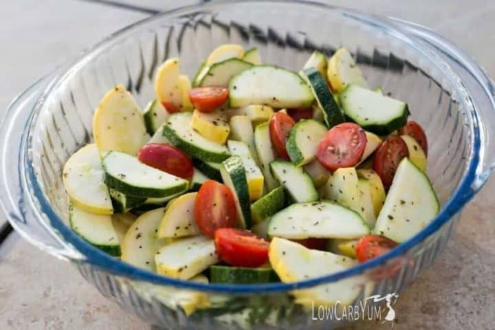 Zucchini and squash salad featured