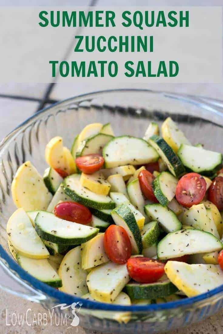 Zucchini and squash salad tall