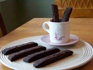 Gluten Free Low Carb Chocolate Biscotti
