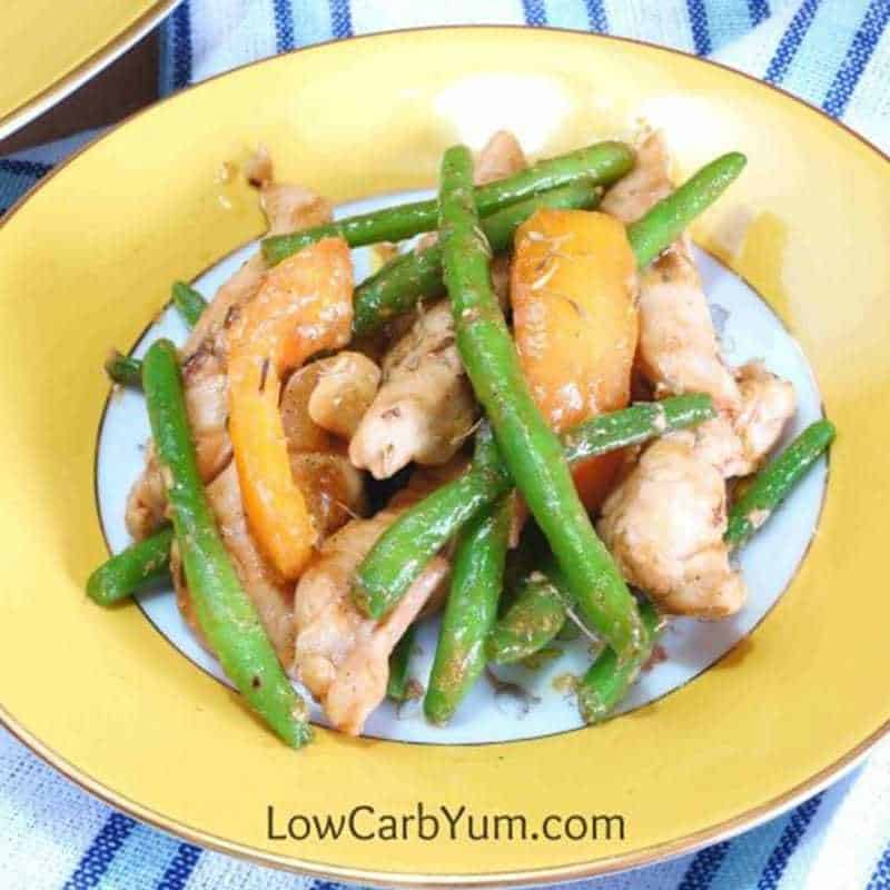 Chicken Green Beans and Tomatoes Skillet Stir Fry