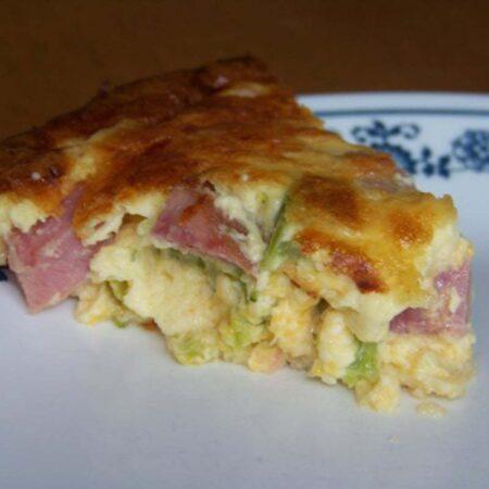 Ham Cheese and Broccoli Quiche
