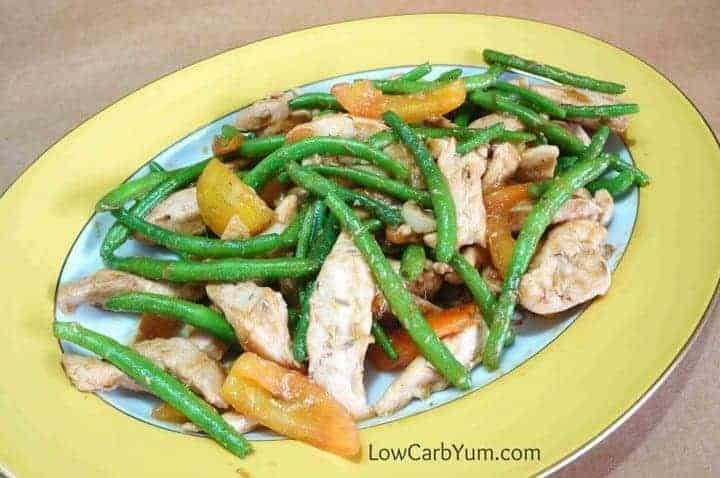 Chicken green bean stir fry platter