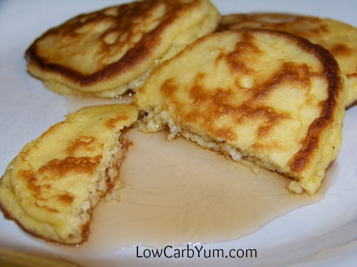 An easy recipe for fluffy gluten free coconut flour pancakes. Such a tasty breakfast treat! Enjoy them with your favorite low carb syrup or eat them plain.