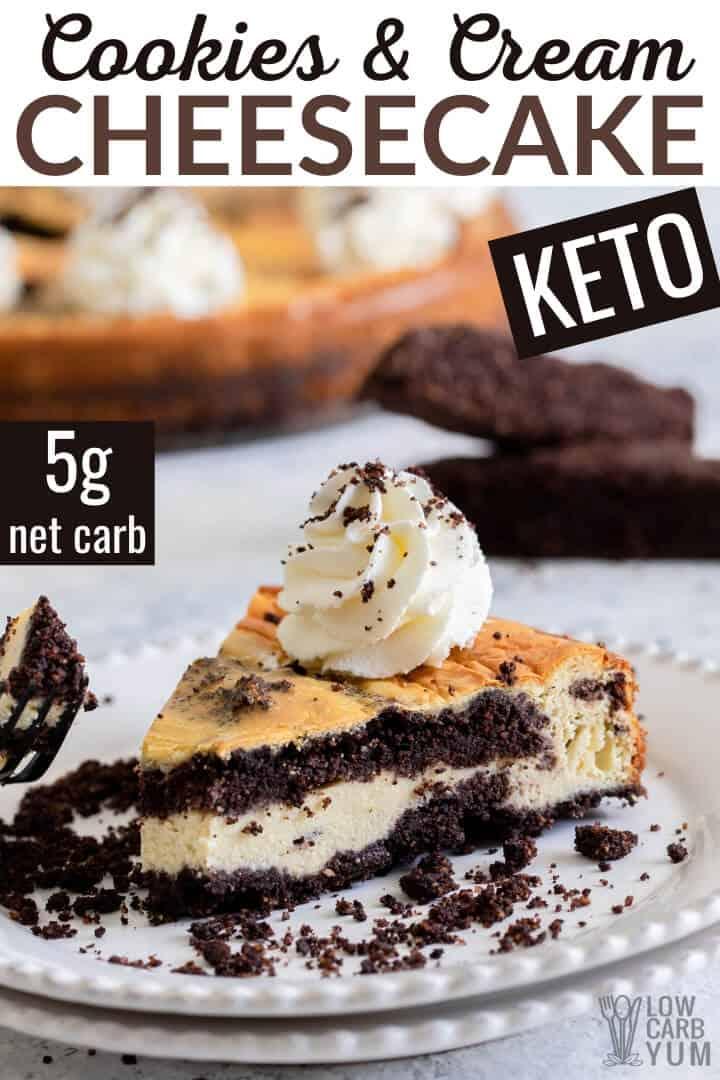 keto cookies and cream cheesecake recipe