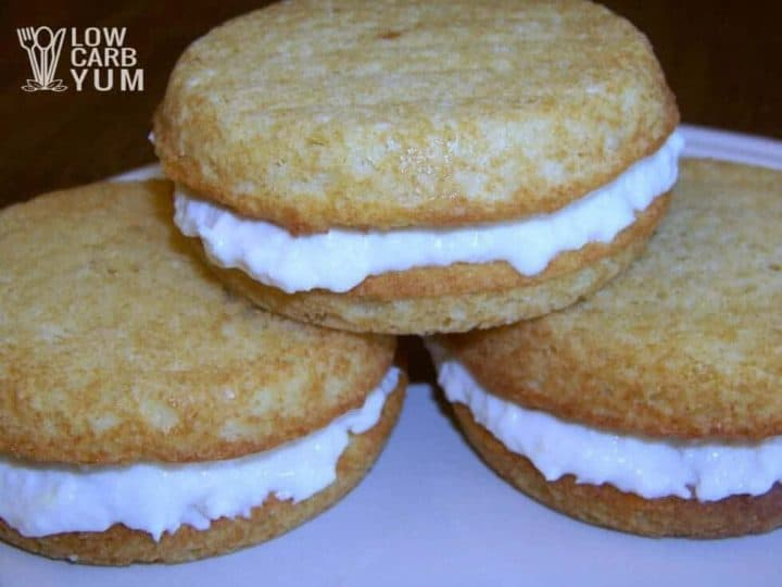 Low carb banana whoopie pies featured