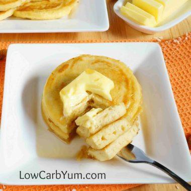 Low carb coconut flour pancakes - gluten free