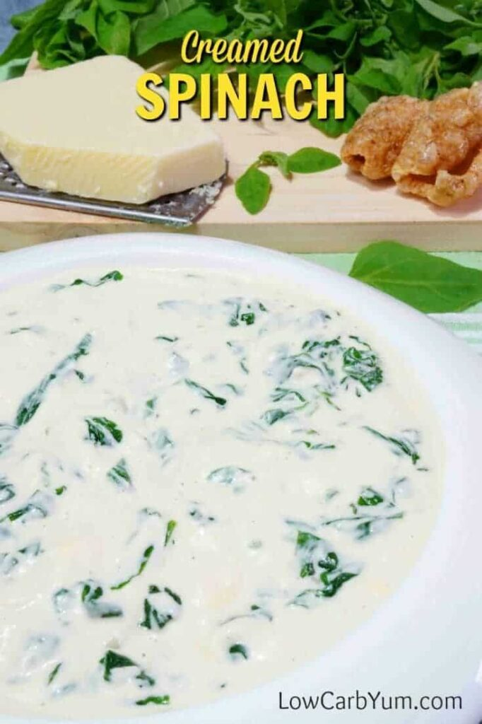 Low carb creamed spinach recipe cover