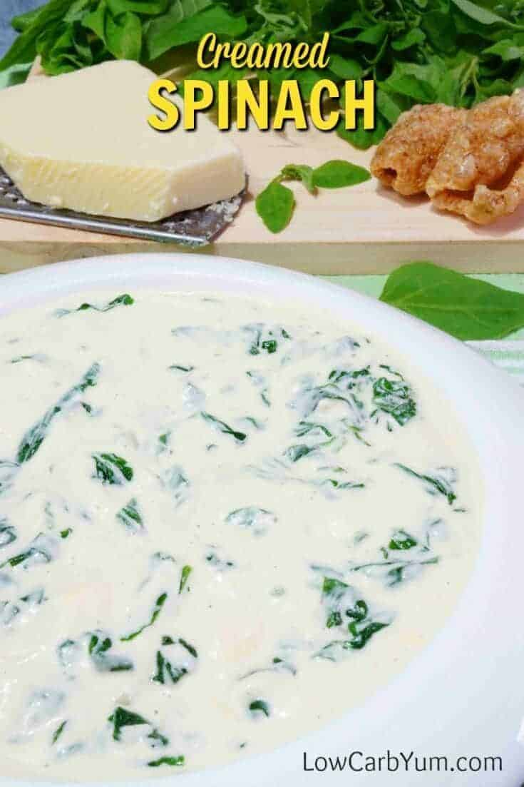 Low carb gluten free creamed spinach recipe