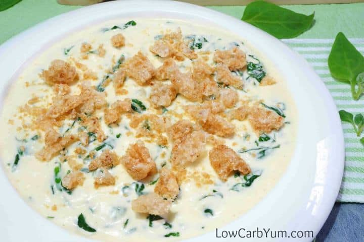 Cheesy low carb creamed spinach recipe tall