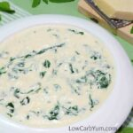 low carb creamed spinach soup